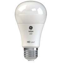 GE Relax LED 60W Soft White 2700K High Definition A19 Dimmable LED 2 Bulb Pack - $7.97