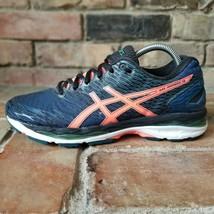 Asics Gel Nimbus 18 Women's Running Comfort Shoe Size 9M Blue Pink T650N  - $46.72