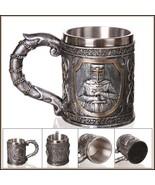 Medieval Templar Crusader Knight Cross Embossed Stainless Steel Coffee/B... - $49.95