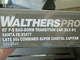 Walthers Proto Stock # 920-9641 Santa Fe 85' PS Bag-Dorm Trasition Deluxe # 1  image 5