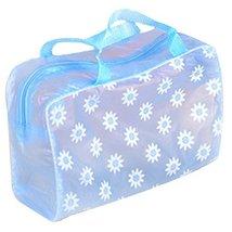 8 Pcs Floral Transparent Waterproof Travel Pouch Cosmetic Bag Random Color