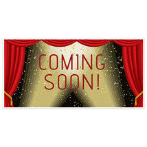 Red Curtain Stage Coming Soon Business Window Display Retail Large Forma... - $19.31+