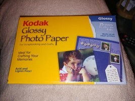 Photo Paper Glossy 4x6. Kodak Premium Picture. 75 Sheets. NEW. SEALED. - $3.00