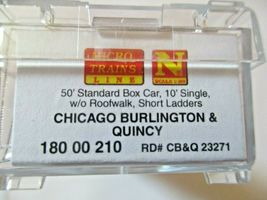 Micro-Trains # 18000210 Chicago Burlington & Quincy 50' Standard Boxcar N-Scale image 5