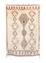 "AZILAL Vintage Moroccan Rug, 4'2"" x 6'1"" - $1,250.00"