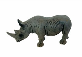 Schleich Rhino toy figure 2001 vtg Rhinoceros wild animal figurine Germa... - $23.17