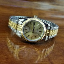 New Vintage Womens ETERNITY Gold & Silver TN Jubilee Stretch Band Watch image 2