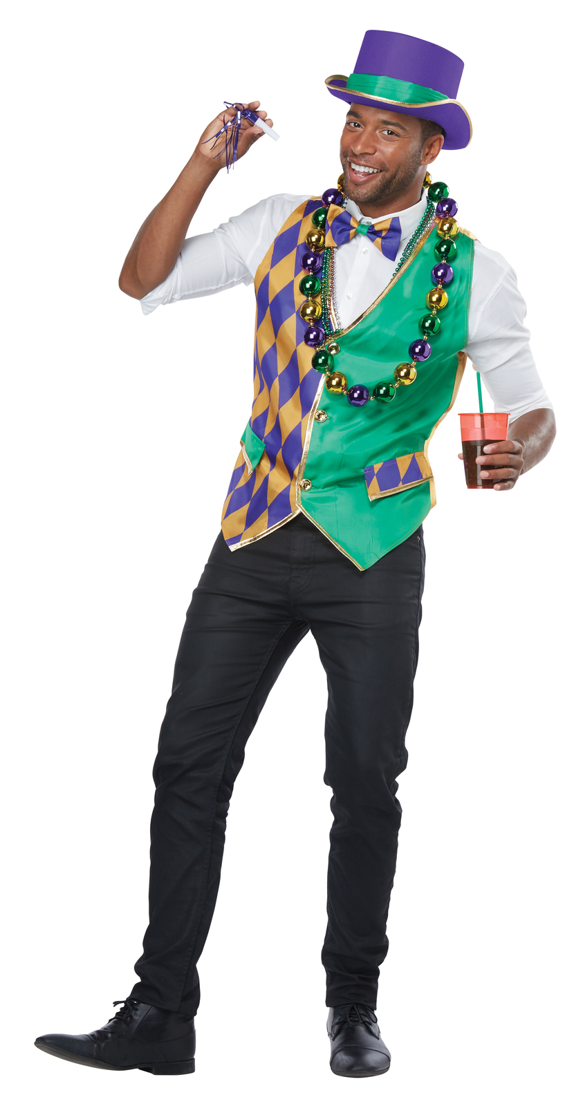 Primary image for Mardi Gras Vest Adult Costume Kit L/XL