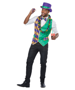 Mardi Gras Vest Adult Costume Kit L/XL - $24.99