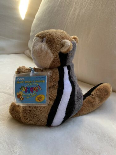 "Ganz Webkinz 9"" Chimpmunk Plush stuffed toy HM217. B2 Used nice Kids Doll Toy image 2"