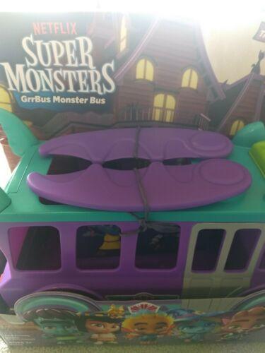 Netflix Playschool Super Monsters GrrBus Monster Bus Toy Lights Sounds & Music  image 11