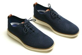 Cole Haan Original Grand Wingtip Oxford Stitchlite Navy Blue C27960 Men ... - $69.19