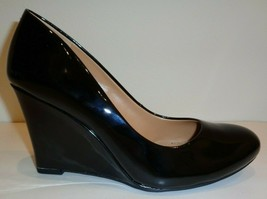 Jessica Simpson Size 9 M CASH Black Patent Wedge Heels Pumps New Womens ... - $68.61