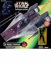 Star Wars: Power of the Force A-Wing Fighter with Pilot Vehicle - $28.08