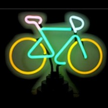 """Neon Bicycle Sculpture Bar Store Sign   16"""" x 13"""" - $89.99"""