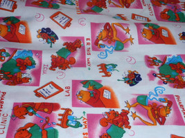 Colorful Nursery Fabric Pharmacy, Clinic, ICU, ER This Way  100% Cotton Fabric 1 - $4.99