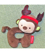 FISHER PRICE REINDEER RATTLE STUFFED ANIMAL BABY PLUSH CHRISTMAS TOY 201... - $11.88