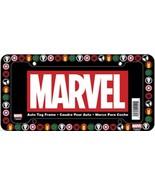 Marvel Comics Superhero Logo All Over Black Plastic Car Auto License Pla... - $6.95