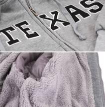 Men's Texas Embroidered Sherpa Lined Warm Zip Up Fleece Hoodie Sweater Jacket image 10