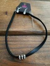 Paparazzi Short Necklace & Earring set (new) #6103 BLACK STRIPE JEWELS - $7.61