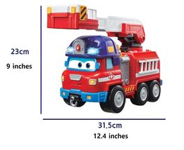 Super Wings Sparky Rocky Rescue Headquarters Set Fire Engine Vehicle Truck Toy image 3
