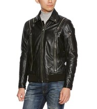Diesel Men's Black Leather L-Feeder Jacket, Size Small, BNWT $898 - $399.75