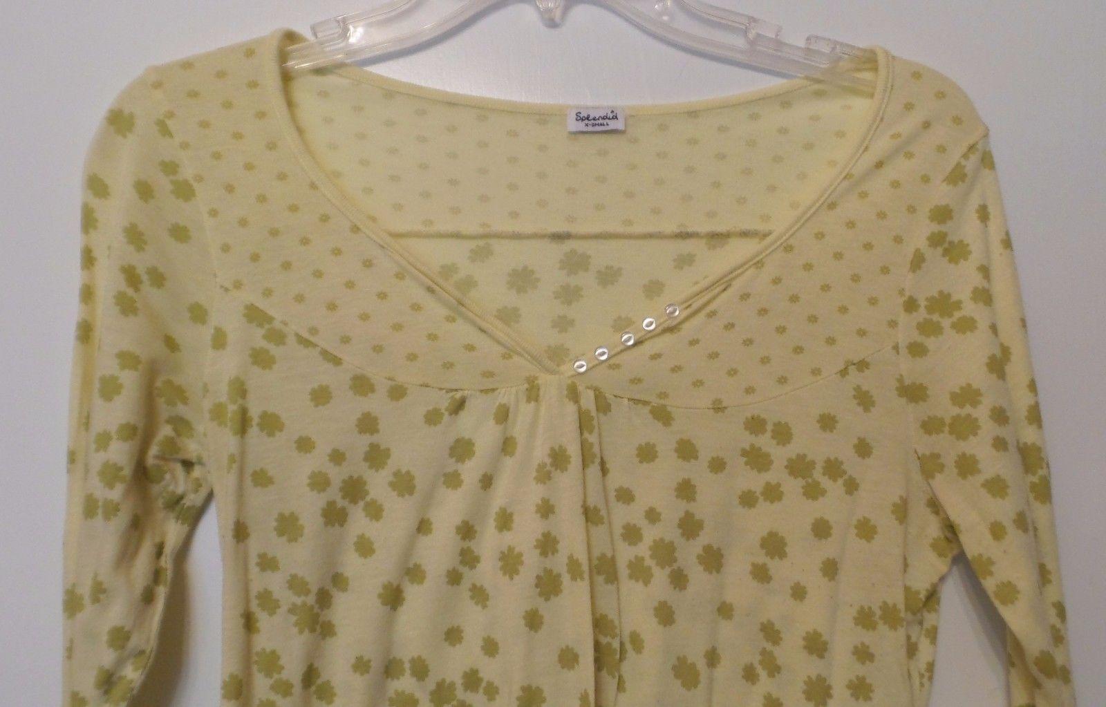 Anthropologie SPLENDID Pima Cotton Modal Light Long Sleeve Knit Top Size XS