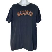 San Francisco Giants Men's size XL Majestic T Shirt MLB Genuine Merch Black NEW - $26.72