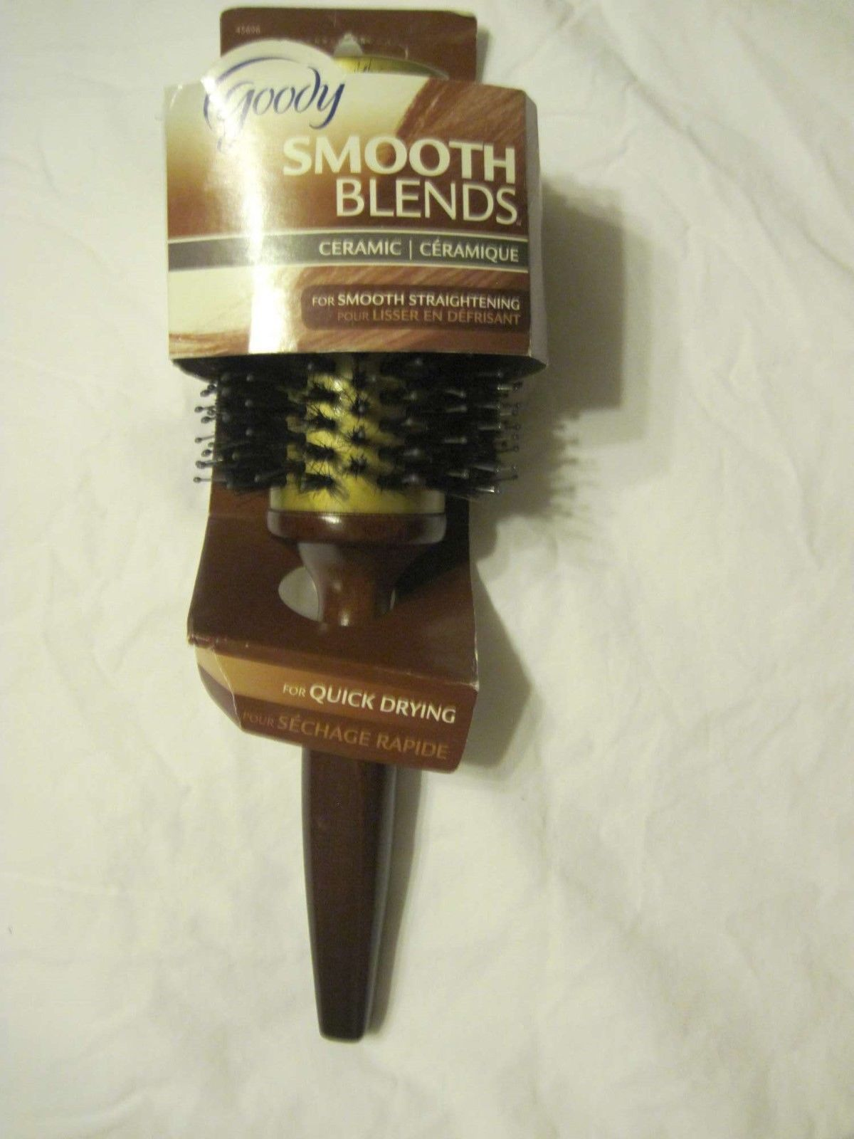 "Goody 1 3/4"" Barrel Round Smooth Blends Ceramic Boar Blend Bristles Wooden Brush"