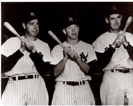 Joe Dimaggio Mickey Mantle Ted Williams 18X24 BW Baseball Memorabilia Photo - $34.95