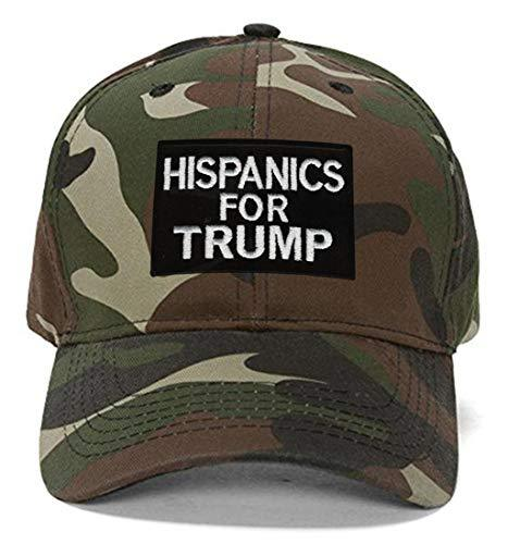 Hispanics For Trump Hat - Adjustable Cap (Camo)