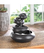 Fountain Indoor Four Tier Table Top Waterfall with Bowls Very Soothing - $39.95