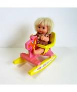 Vintage 1972 Remco Sweet April Doll & Playtime Safe-T-Seat Rocking Horse... - $17.99