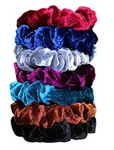 Syleia 7 Pcs Hair Scrunchies Velvet Elastic Hair Bands Scrunchy Hair Tie... - $7.06