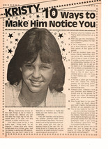 Kristy Mcnichol teen magazine pinup clipping 10 ways to make him notice you