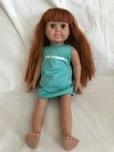 "Vintage 1996 Springfield Fibre-Craft 18"" Doll Red Hair Green Sleepy Eyes... - $32.66"