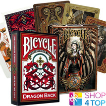 2 DECKS BICYCLE 1 DRAGON BACK RED AND 1 ANNE STOKES STEAMPUNK CARDS NEW - $12.76