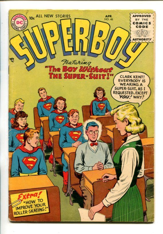 SUPERBOY #48-1956-CLASSROOM COVER SCENE-vg minus