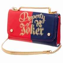Suicide Squad Harley Quinn Property Of Joker Clutch Bag Red - $34.98