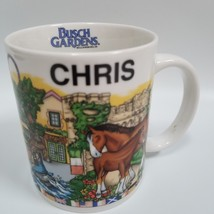 Busch Gardens Williamsburg Virginia Name Mug Chris 2002 F.S.D. Inc White... - $24.99