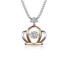 """925 Sterling Silver Necklace """"Crown of Goddess"""" Pendant with Cubic Zirconia - $85.63"""