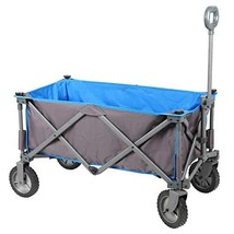 PORTAL Collapsible Folding Utility Wagon Quad Compact Outdoor Garden Cam... - $103.42