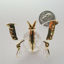 """Hand Made Glass Butterfly with Gold Colored Accents Petite 1 3/4"""" OC4A16 - $9.74"""