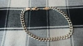 """Vintage Sterling Silver Charm Bracelet 8"""" x 5mm - $20.79"""