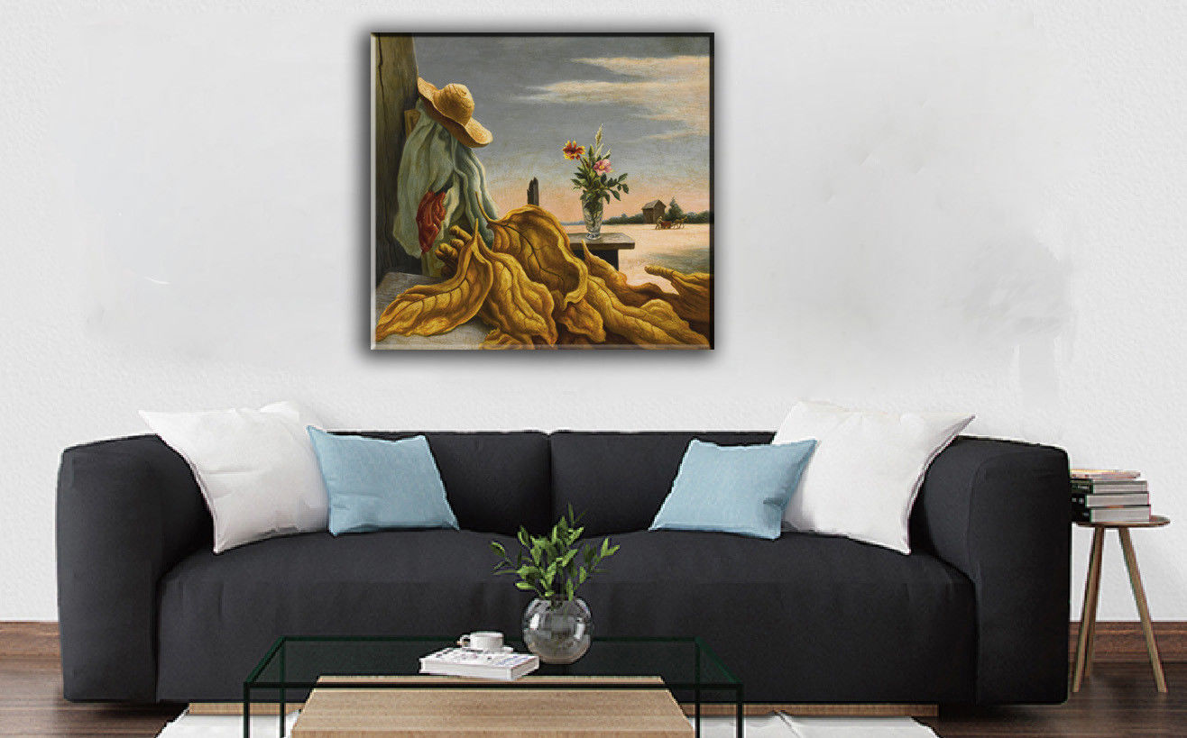 "Cartoon Art Home Decor Oil Painting Print On Canvas ""Flower And Tobacco Leaf"""