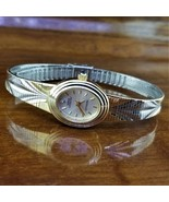 New Womens Sarah Coventry Gold & Silver Diamond Accent Embossed Mesh Ban... - $34.95