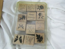 "Stampin' Up! ""Simple Sketches"" Stamp Set (12 pieces) 2002 Butterfly's and more  - $9.89"