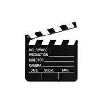 Hollywood Director's Clapper Board Movie Oscar Themed Wooden Party Decor... - $6.24