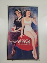 1993 Coca-cola 50th Anniversary Metal Sign Pinup Girls - $10.95