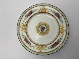 """Vtg Wedgwood Columbia 5.75"""" Bread Plate 1925 Green Stripe W595 England Excellent - $19.55"""